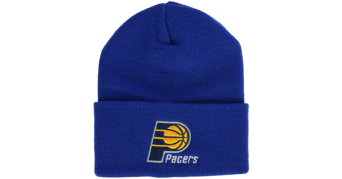 Lyst - Adidas Indiana Pacers Basic Cuff Hat in Blue for Men f500f447b01
