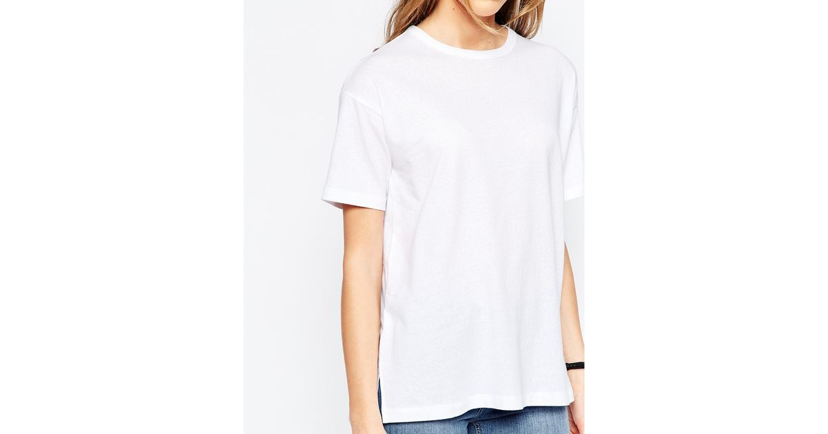 Asos Linen Look Oversized T-Shirt In White  Lyst-1787