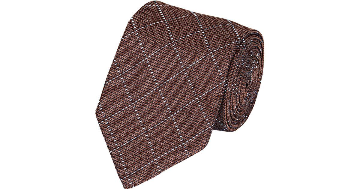 Mens Dotted-Grid Silk Jacquard Necktie Barneys New York XfQoRYfOOF