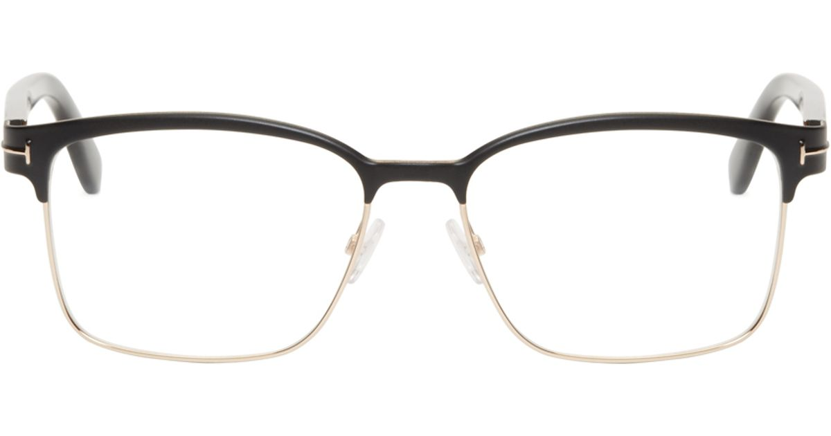 292a9d7b8cc Tom Ford Black Horn Rim Tf5323 Optical Glasses in Black for Men - Lyst