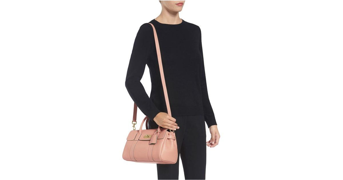 Mulberry Small Bayswater Satchel in Pink - Lyst a24afc8cedb89