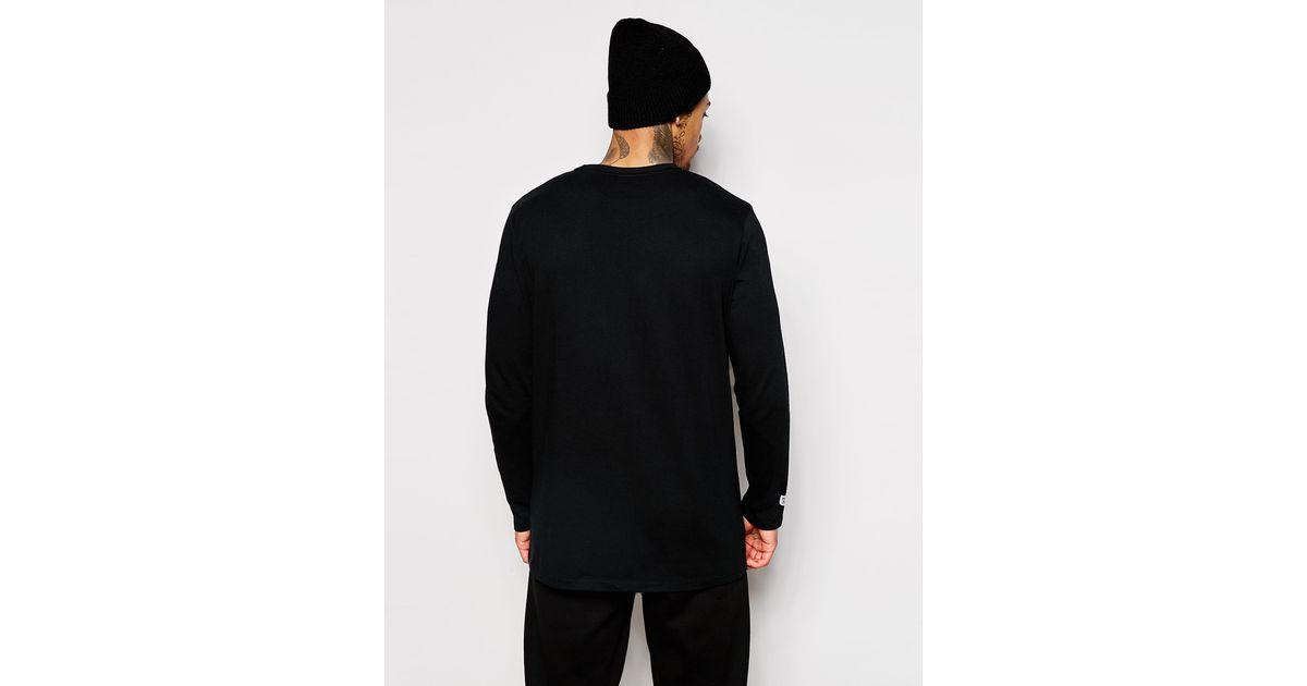 Lyst - Majestic Longline Long Sleeve Raiders T-shirt in Black for Men 0f26afa2e