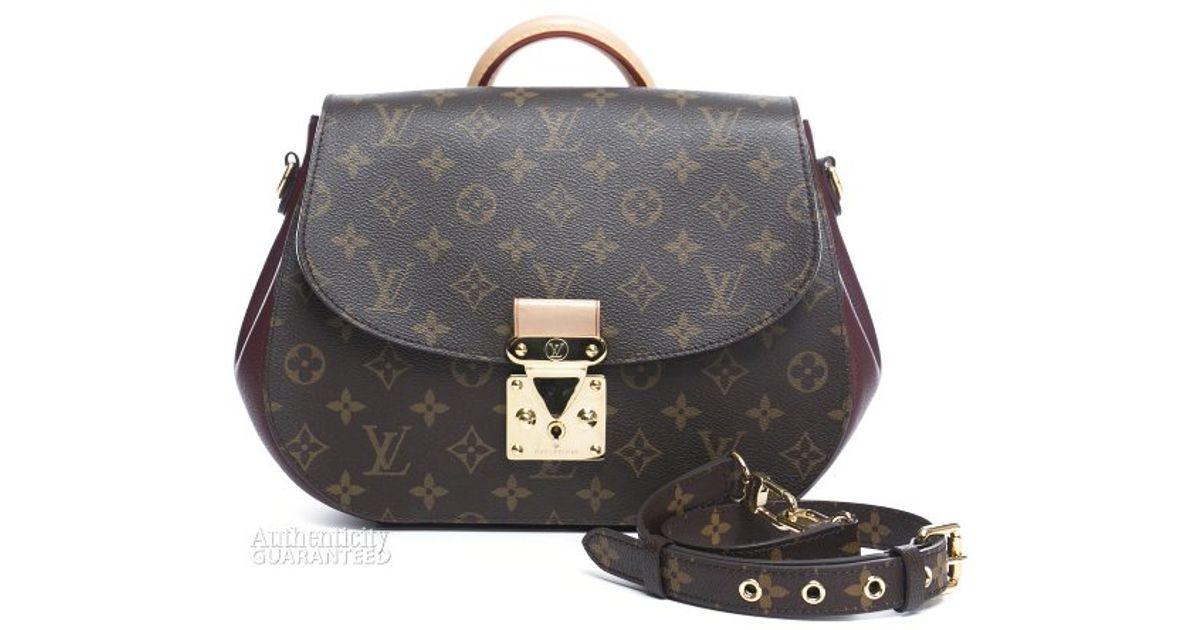 Lyst Louis Vuitton Pre Owned Monogram Canvas Bordeaux Eden Mm Bag In Brown