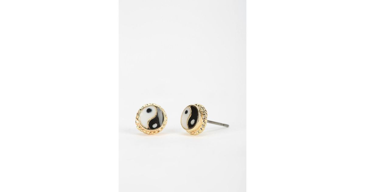 Urban outfitters Yinyang Gift Card Earring in Metallic | Lyst