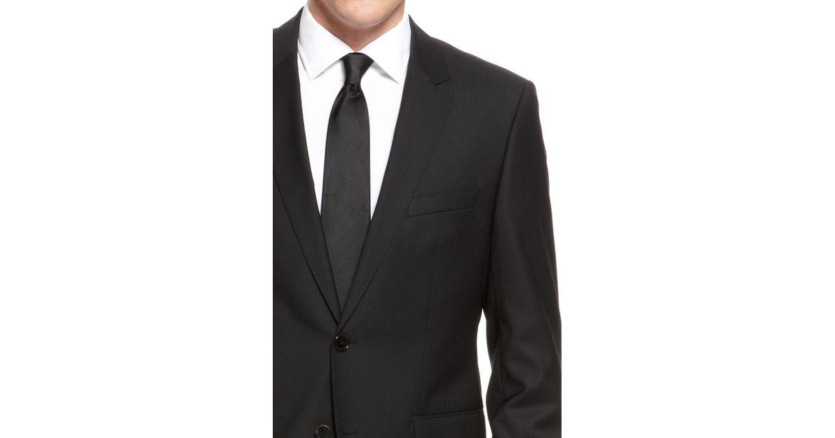 13363f519 BOSS 'the James/sharp' | Regular Fit, Super 120 Italian Virgin Wool Suit in  Black for Men - Lyst