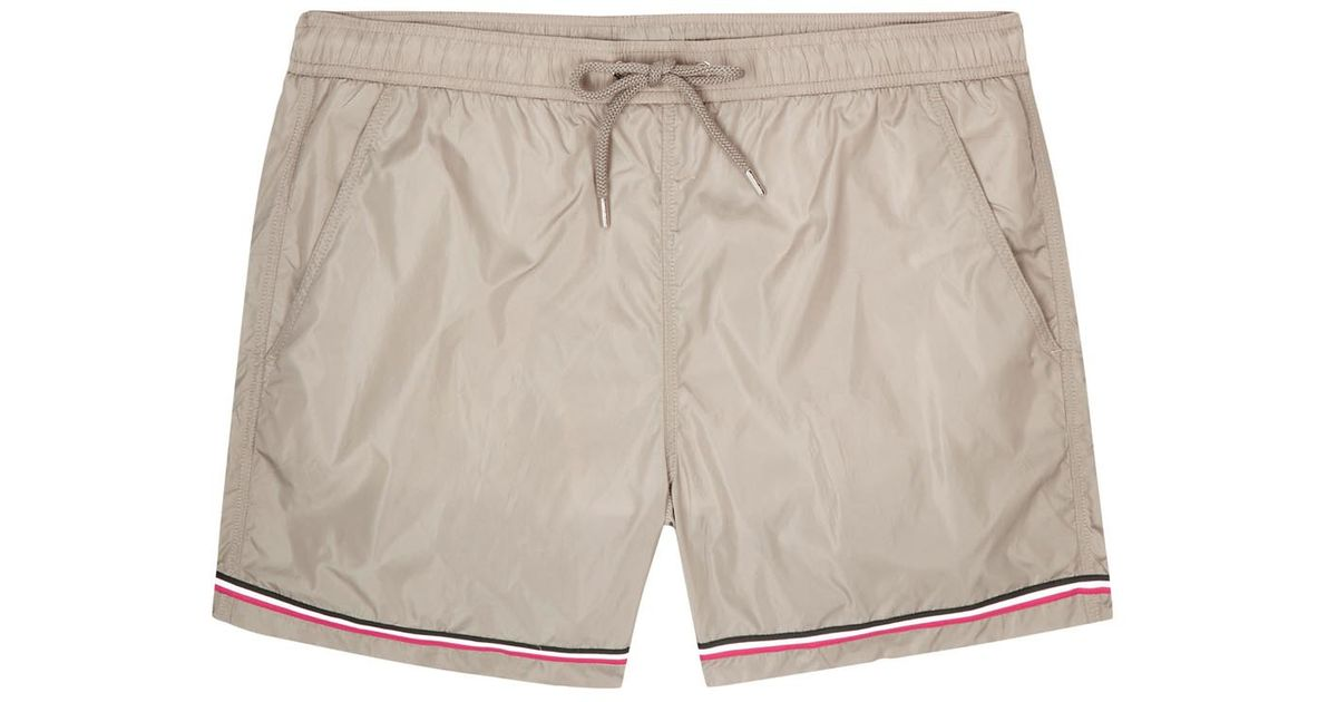 white moncler swim shorts