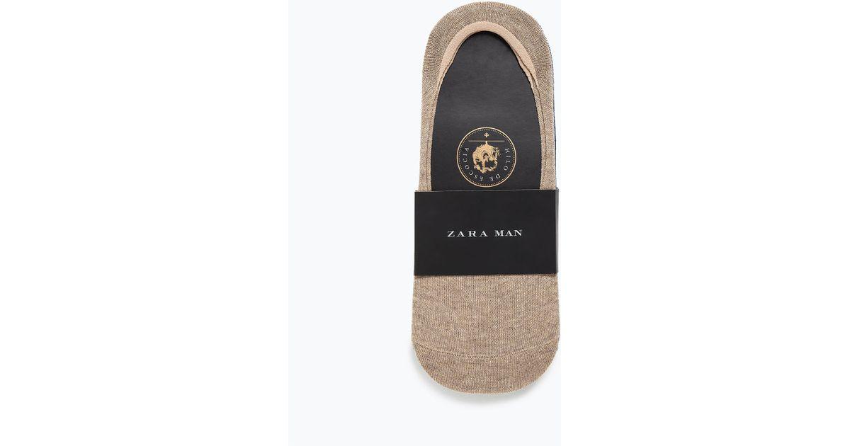 Zara Shoe Liner Socks For Men | Lyst