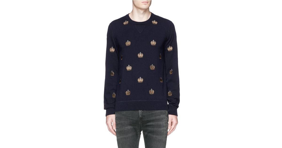 crown embroidered sweater - Blue Dolce & Gabbana Latest Collections  Sale Browse s84ToD55