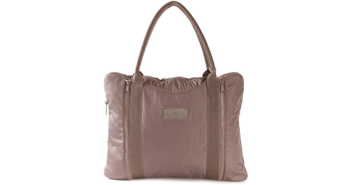 Lyst - adidas By Stella McCartney Medium Yoga Bag in Gray a15cb194e4
