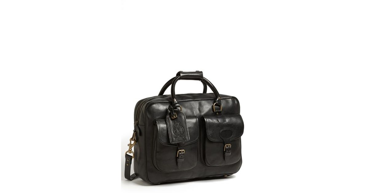 fc77cf7d3cd8 Lyst - Polo Ralph Lauren Leather Commuter Bag in Black for Men