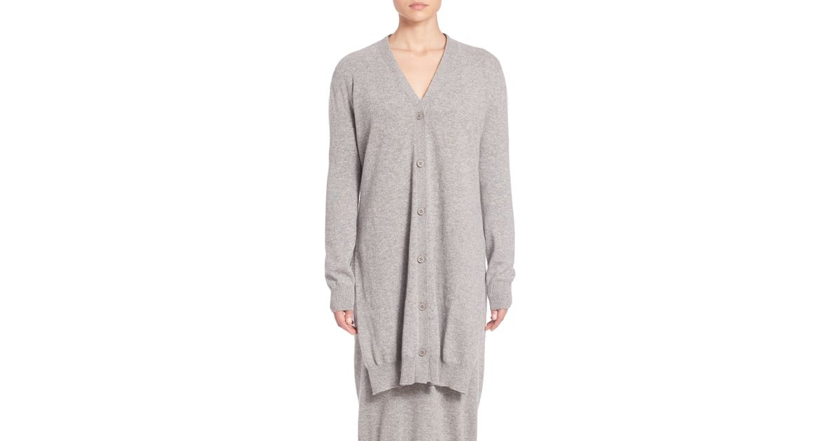Tomas maier Cashmere Wrap Cardigan in Gray | Lyst