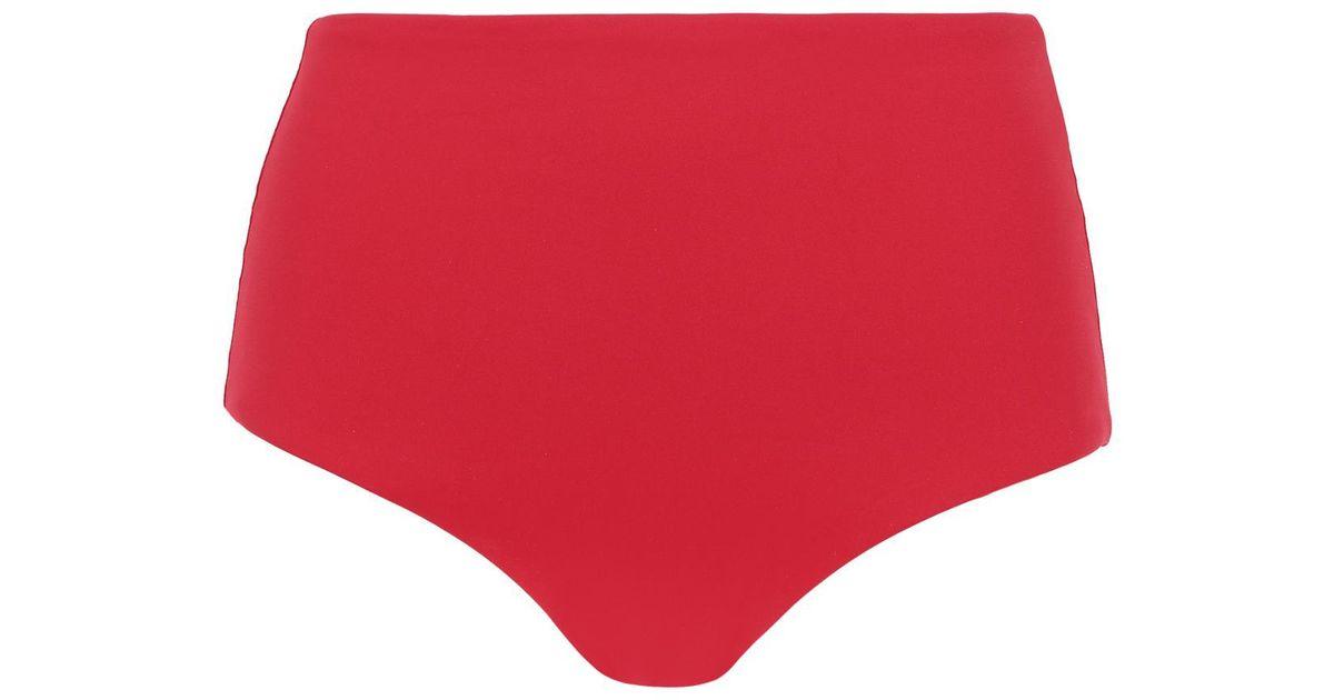 f479081573 Lyst - Calzedonia Indonesia High Waist Shaping Bikini Bottoms in Red
