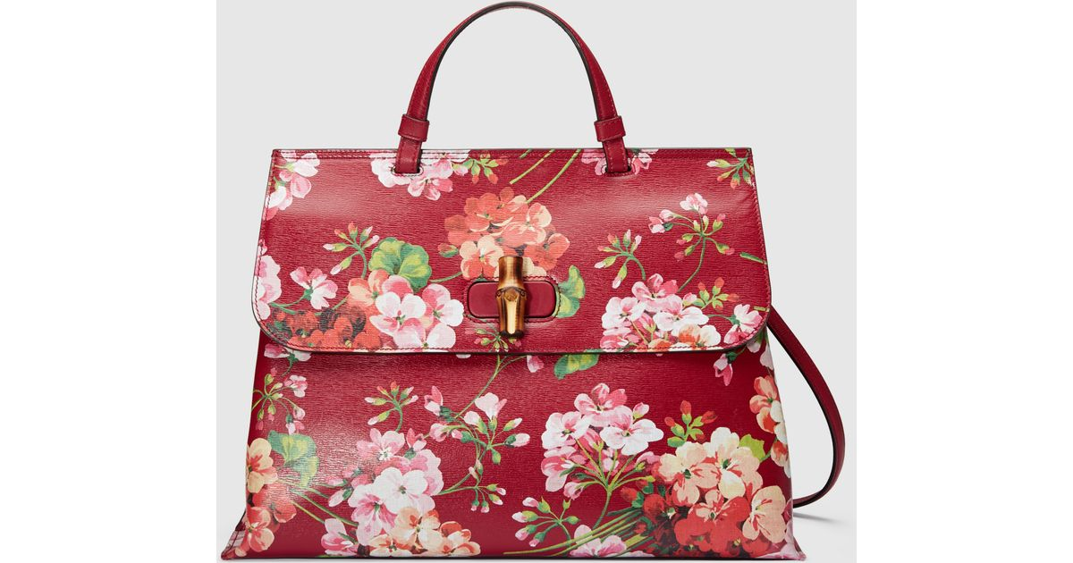 523c150442af Gucci Bamboo Daily Blooms Top Handle Bag in Natural - Lyst