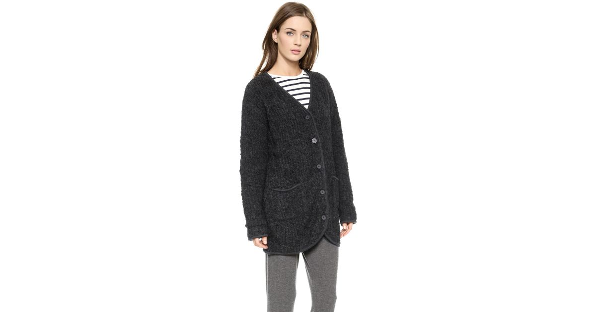 Velvet Garcelle Boucle Sweater Coat in Gray | Lyst