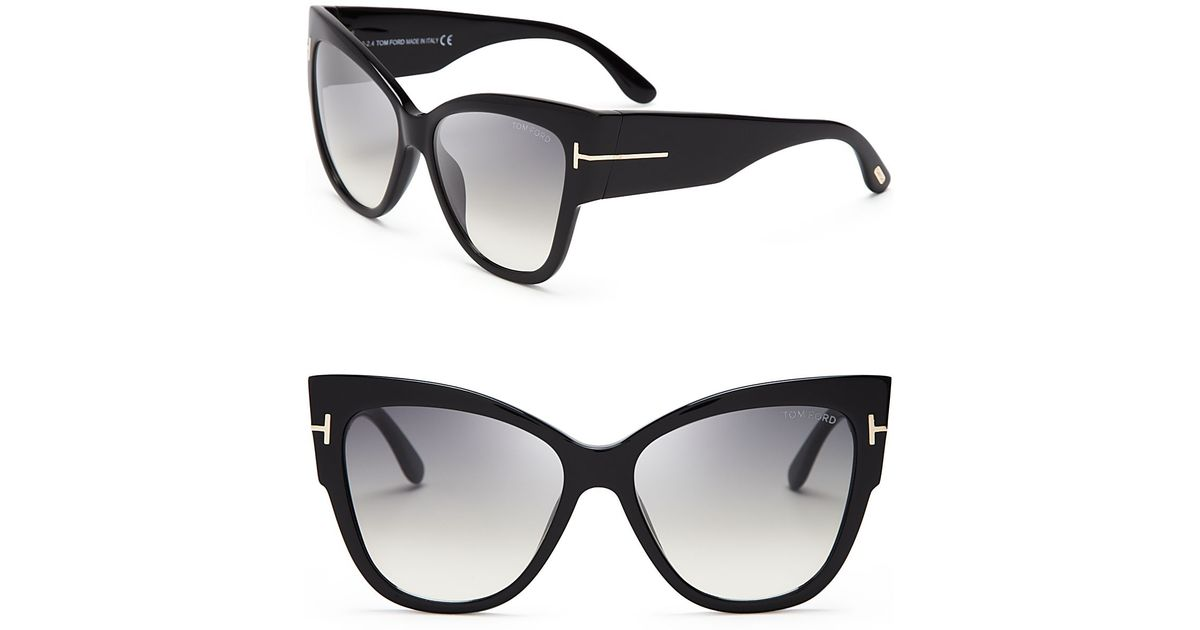 Lyst - Tom Ford Anoushka Cat Eye Sunglasses in Gray 2a8d563b1e