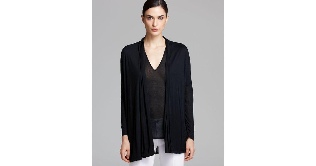 Helmut lang Cardigan Slack Jersey in Black | Lyst