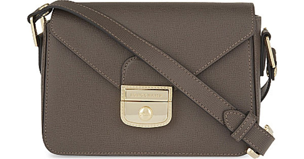 f7feeb76b5d2 Longchamp Le Pliage Heritage Cross-body Bag in Gray - Lyst