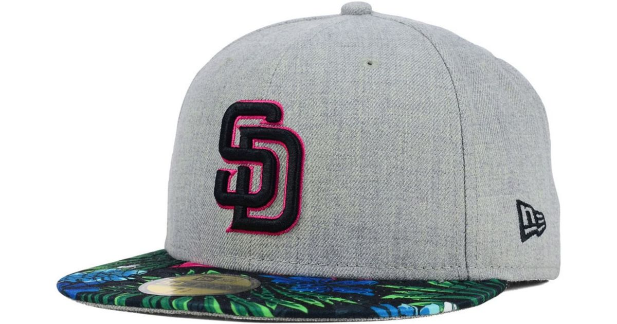 huge discount 044b5 fbdf1 discount lyst ktz san diego padres floral mashup 59fifty cap in gray for  men f0df2 12911