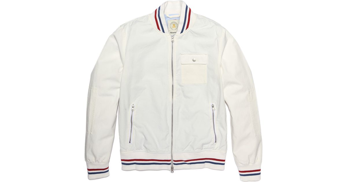 Gant The Mb Baseball Jacket in White for Men | Lyst
