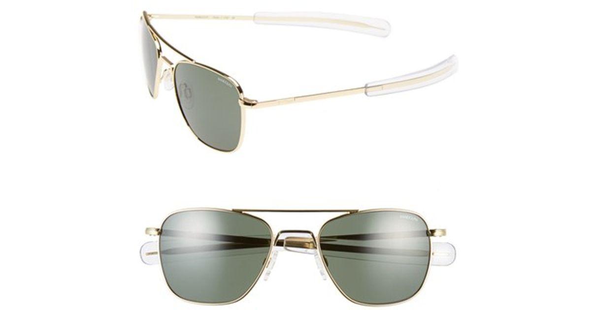 Lyst - Randolph Engineering 52mm Aviator Sunglasses in Gray f19313e469