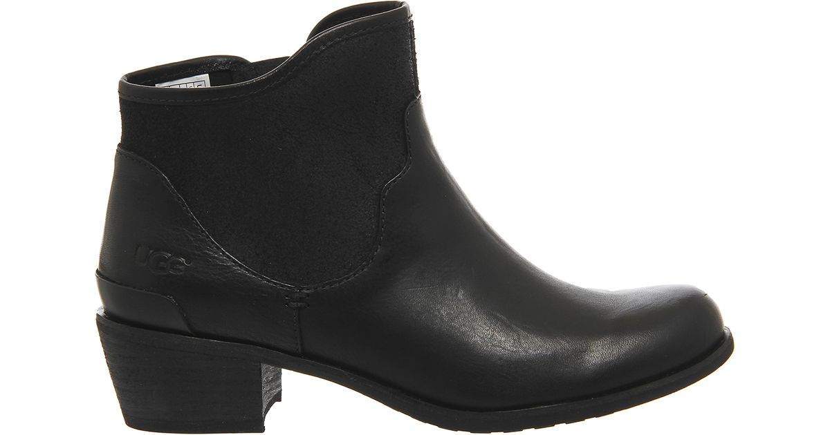 Ugg Penelope Ankle Boots In Black Lyst