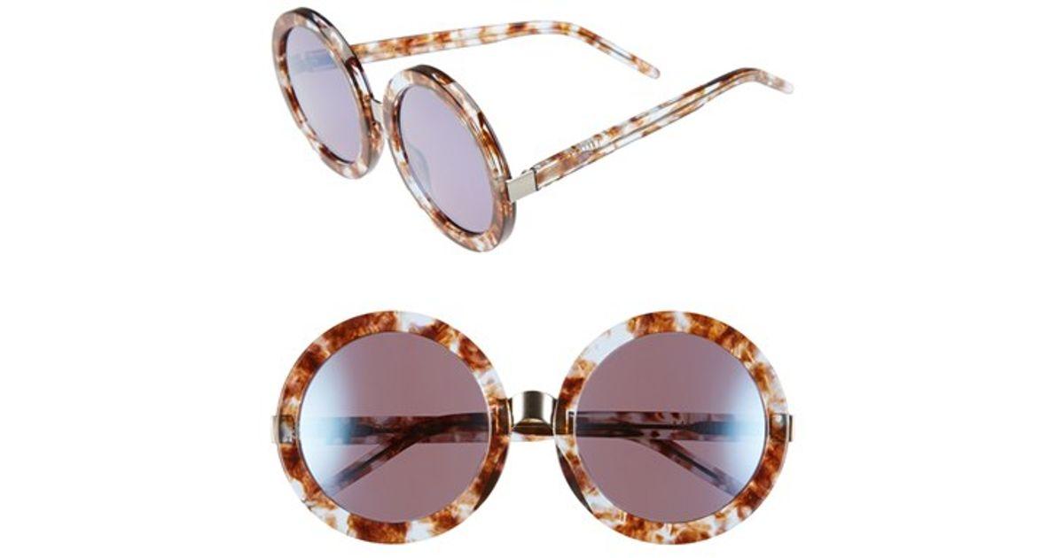 WildfoxWomen's Brown 'malibu Deluxe' 55mm Retro Sunglasses - Coconut/ Denim Mirror