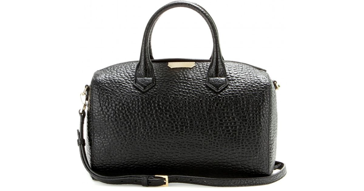 2c13113f8a4d Burberry Alchester Leather Bowling Bag in Black - Lyst