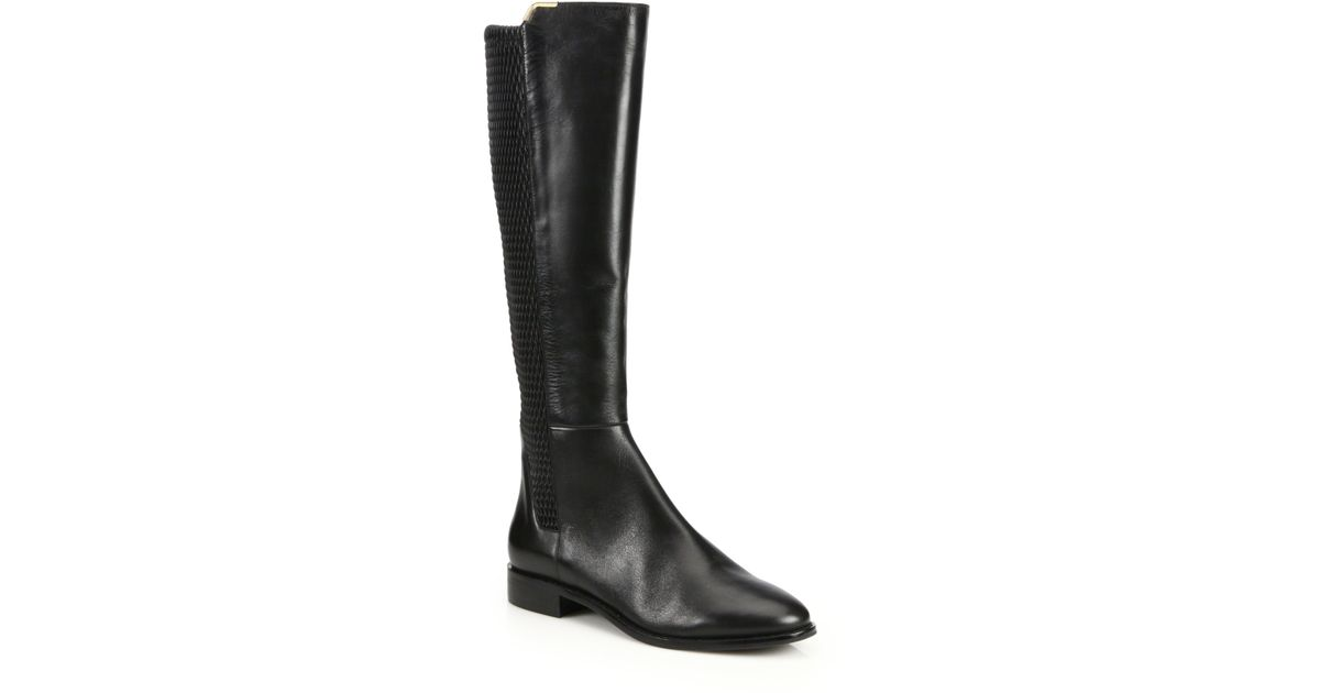 656b83d92b4 Lyst - Cole Haan Rockland Leather Knee-high Boots in Black