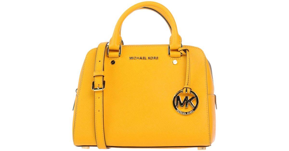 86ea809c5a Lyst - MICHAEL Michael Kors Handbag in Yellow