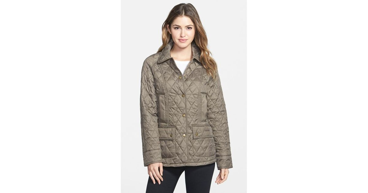 dd3aad64a Barbour - Gray 'beadnell - Summer' Quilted Jacket - Lyst