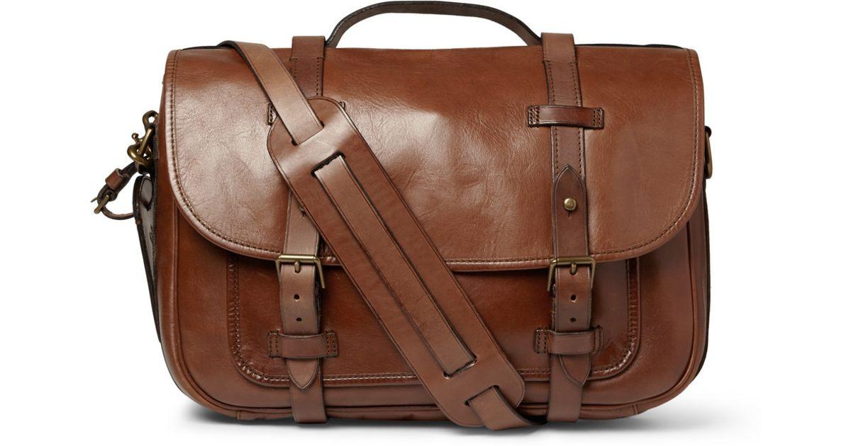 Lyst - Polo Ralph Lauren Leather Messenger Bag in Brown for Men d02411905975d