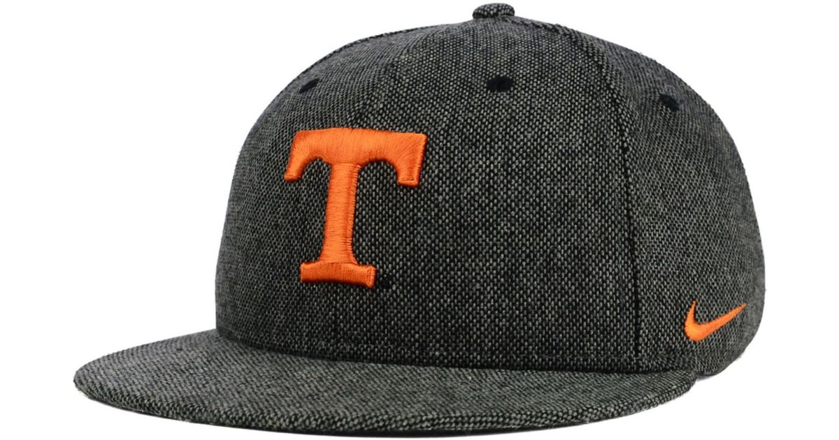 hot sale online 12202 f4fb6 Nike Tennessee Volunteers True Tweed Snapback Cap in Black for Men - Lyst