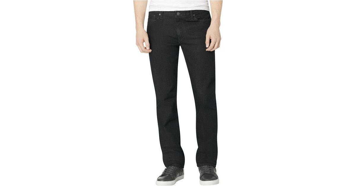calvin klein jeans slim straight leg jeans in blue for men. Black Bedroom Furniture Sets. Home Design Ideas