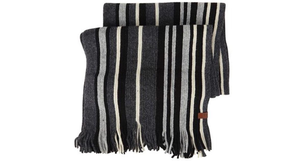 Knitting Vertical Stripes Scarf : Ben sherman vertical stripe knit scarf for men lyst