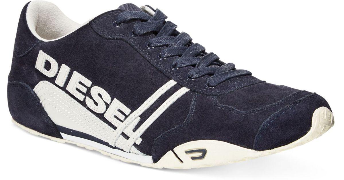 Diesel Harold Solar Sneakers In Blue For Men India Ink