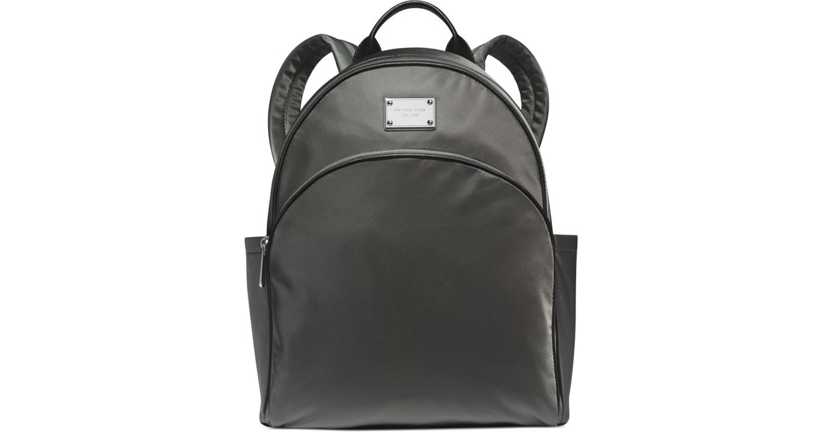 4c0e7f1a31da Michael Kors Michael Large Nylon Backpack - A Macys Exclusive in Gray - Lyst