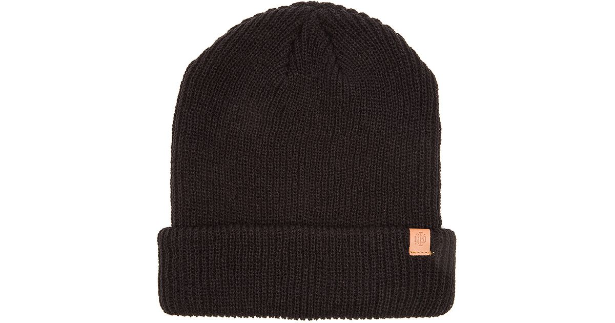 75f827d1bee Lyst - Obey Ruger Monogram Beanie in Black for Men