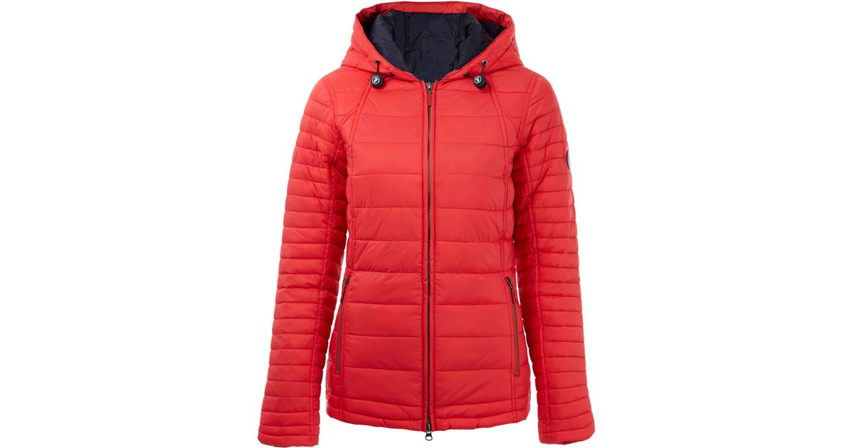 Barbour Red Landry Baffle Quilted Jacket in Red | Lyst : red barbour quilted jacket - Adamdwight.com