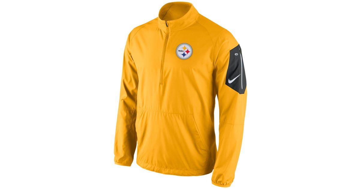 084df4fafe0f Lyst - Nike Men s Pittsburgh Steelers Lockdown Half-zip Jacket in Yellow  for Men