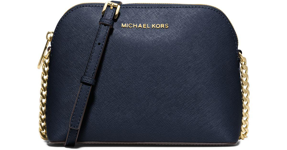 01af3ed7dafa MICHAEL Michael Kors Cindy Large Saffiano Leather Crossbody in Black - Lyst