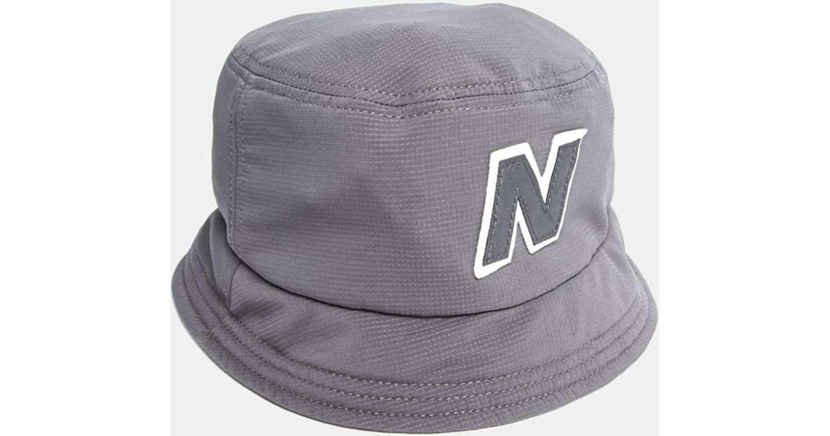 Lyst - New Balance Glasto Bucket Hat in Gray for Men 11719e30a6d
