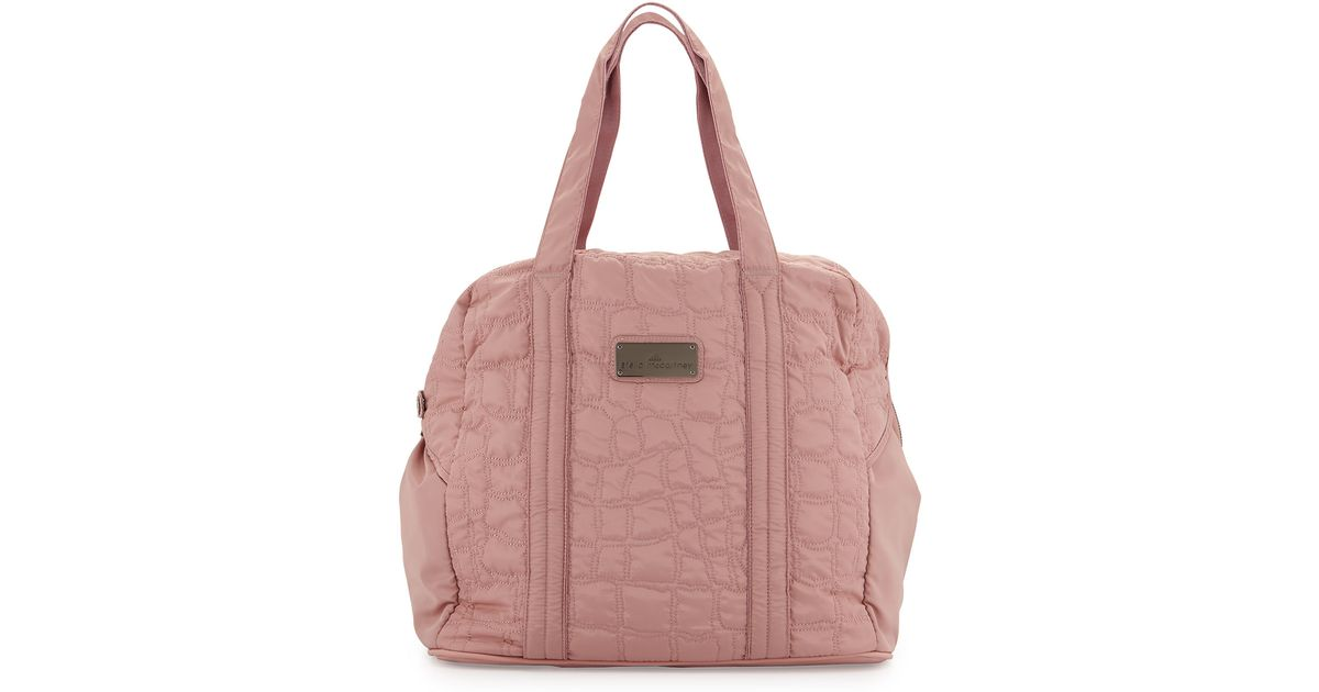 e48b5f241d5b Lyst - adidas By Stella McCartney Quilted Tech-fabric Essential Gym Bag in  Pink