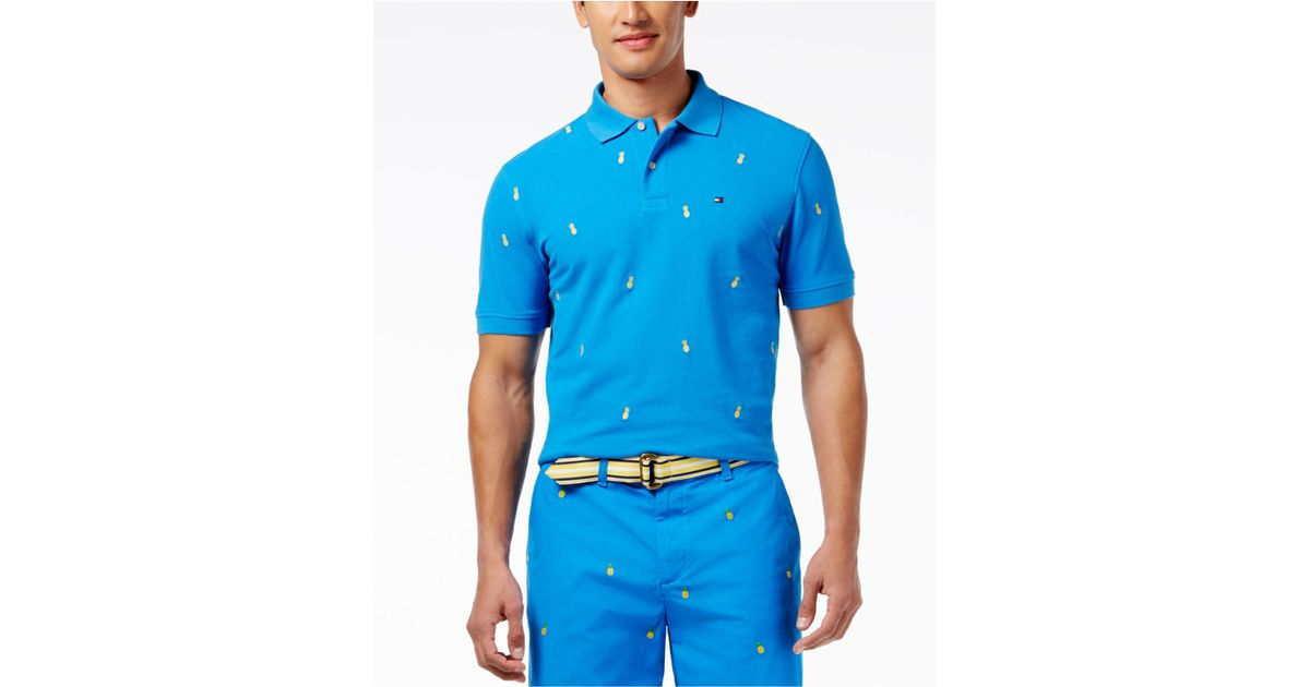 Lyst - Tommy Hilfiger Men s Taj Pineapple Polo for Men a04ac89182e2