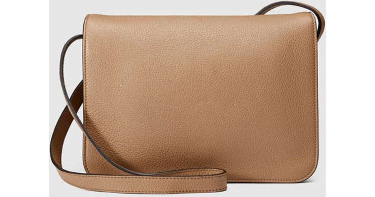 ce1282798 Gucci Jackie Soft Leather Shoulder Bag in Natural - Lyst