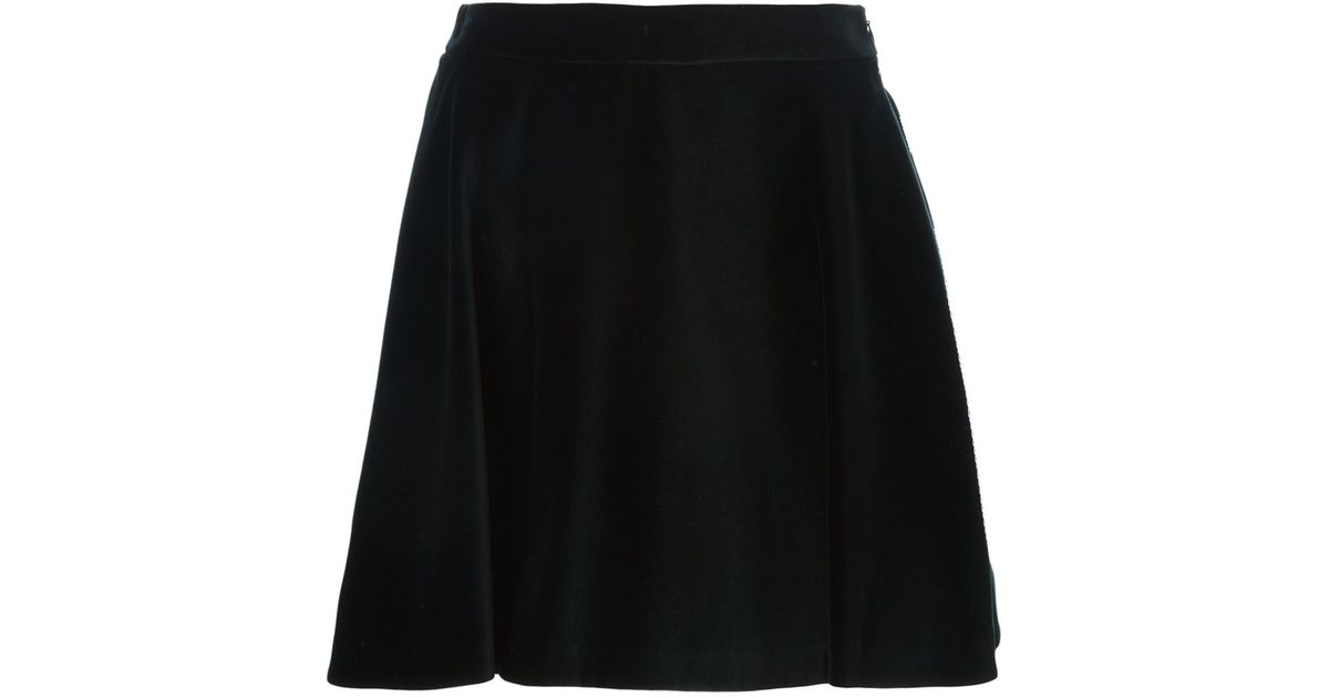 Love moschino A-line Velvet Skirt in Black   Lyst