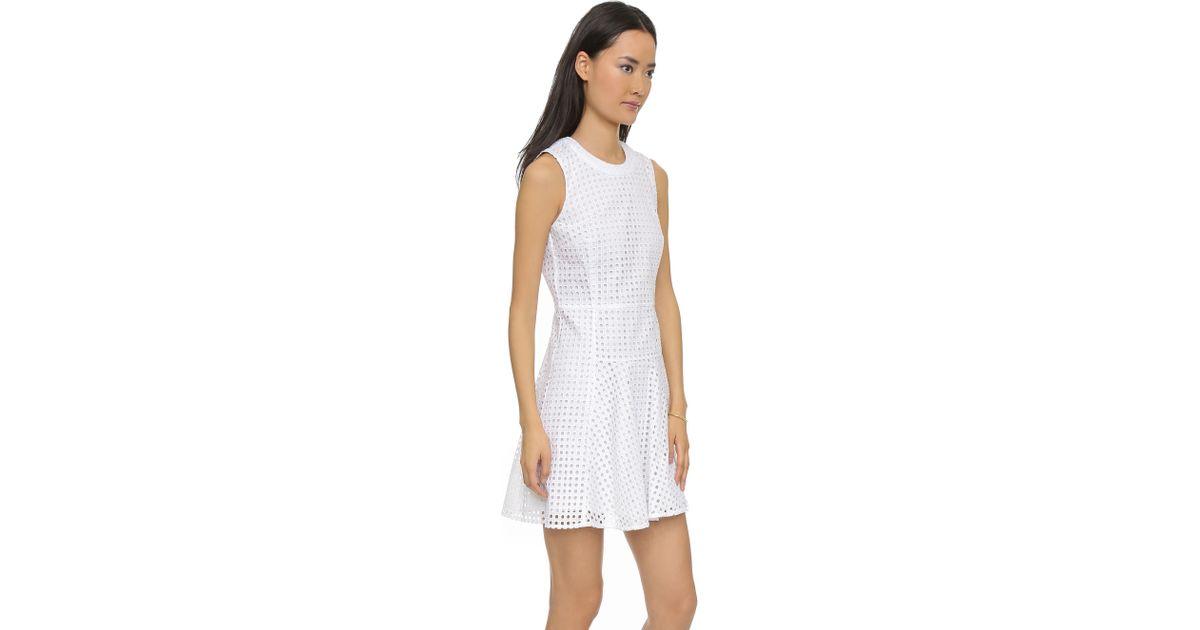 f160364544 Lyst - Madewell Eyelet Bianca Dress - Eyelet White in White
