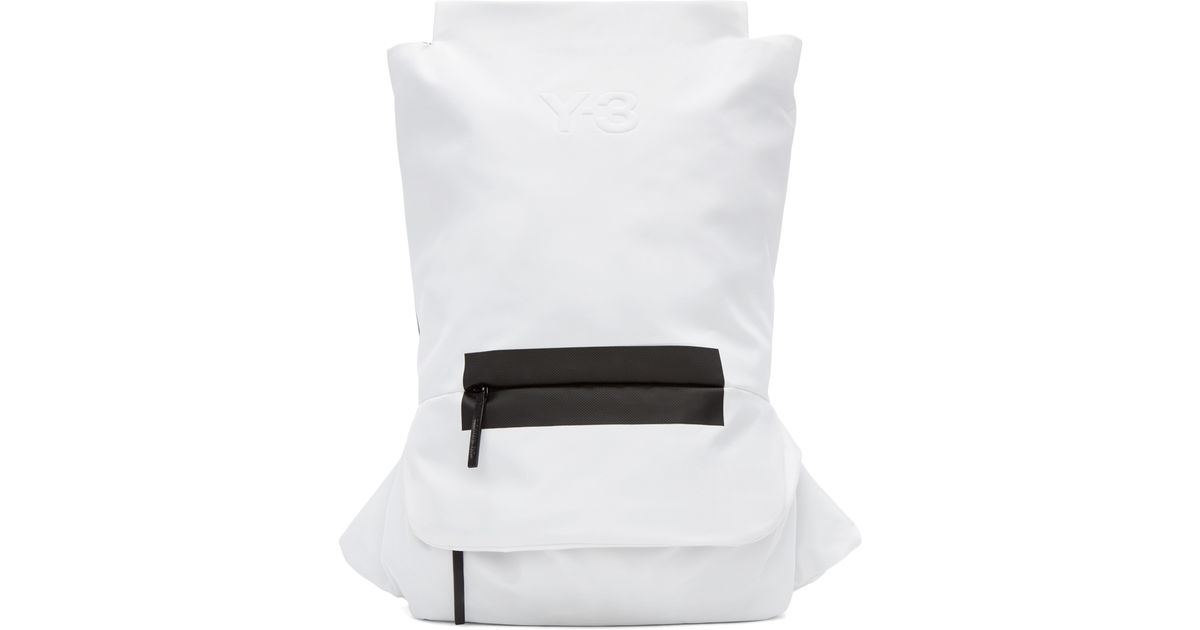 7c4113dd8e9f Lyst - Y-3 Black   White Fs Backpack in Black for Men