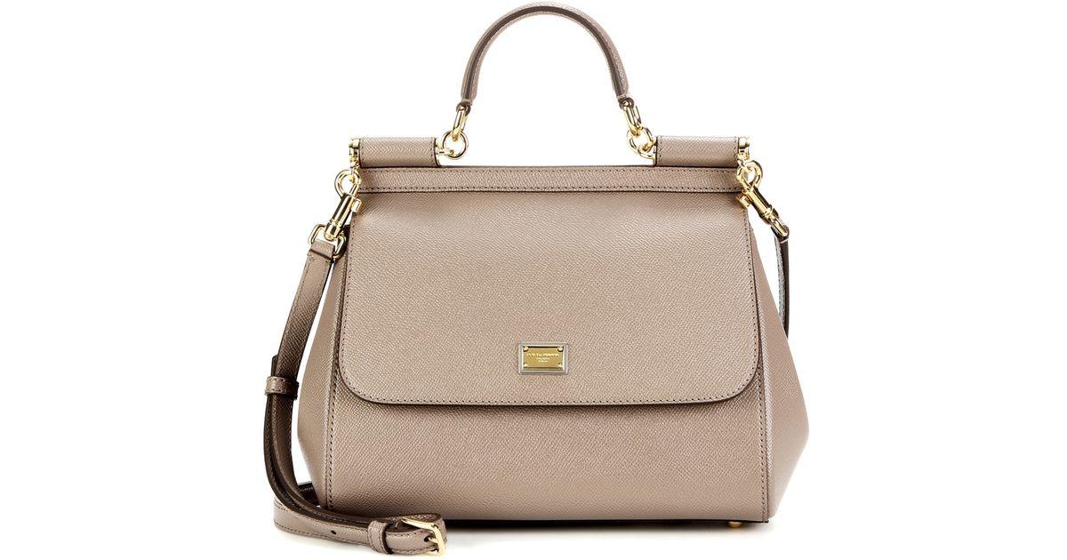 Dolce & gabbana Miss Sicily Medium Leather Shoulder Bag in ...