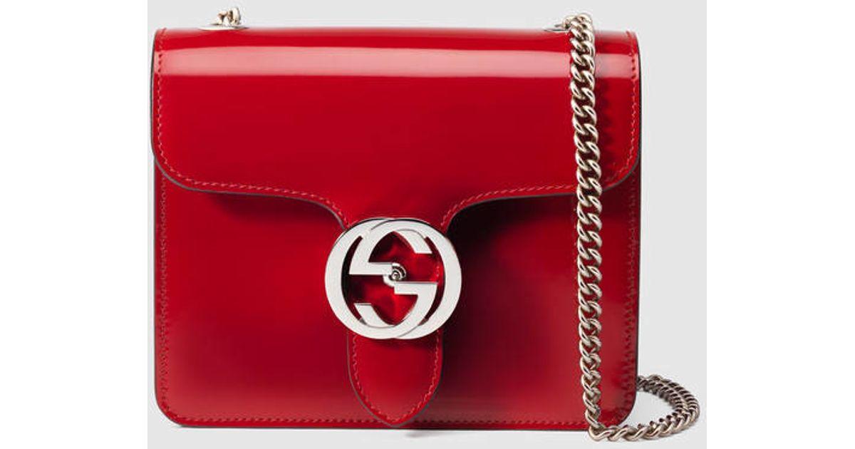 6cc02153bd722 Lyst - Gucci Exclusive Gucci Interlocking Bag in Red