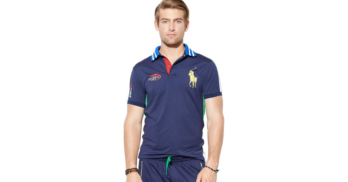 Ralph lauren Polo Us Open Rlx Custom Ball Boy Airflow Polo Shirt - Slim Fit in Blue for Men | Lyst